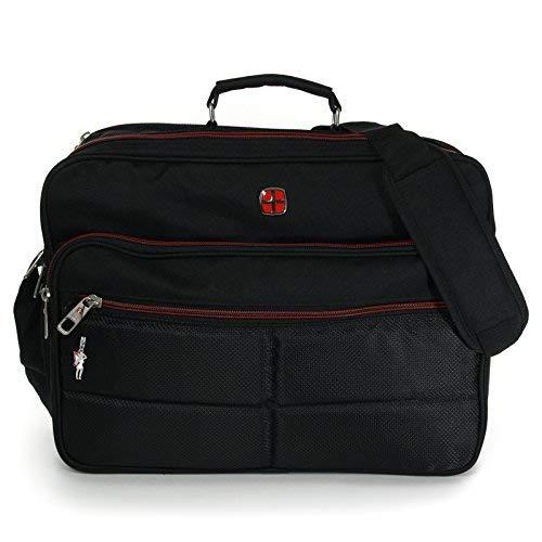 XXL Umhängetasche Business Messenger Bag Notebook Tasche Black FLUGBEGLEITER MESSENGER ARBEITSTASCHE HERRENTASCHE DAMENTASCHE