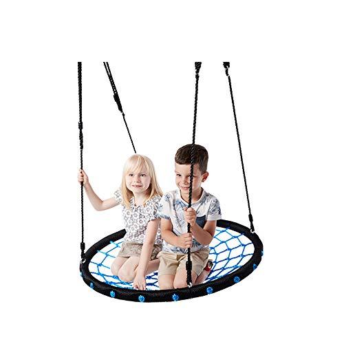 2 Person Swing Children Kids 100 cm 40 Zoll Diamater Round Nest Tree Garden Swing Large Seat Hängematten Outdoor Yard Play Equipment Toys,Blue (Personen Swing Outdoor 2)