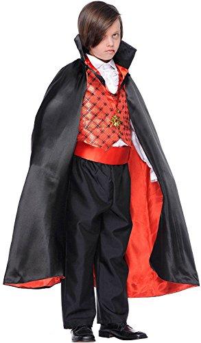 Chiber - Dracula Vampir-Kostüm für Kinder (Größe: 8)