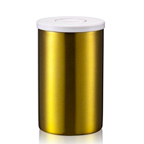 Suteas Edelstahl Kanister luftdicht Kanister mit Co2 Ventil für Kaffeebohnen und gemahlenen Kaffee...