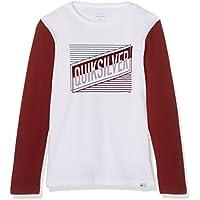 Quiksilver Jungen Ls Yth Colorblock Port Roca-Long Sleeve T-Shirt, Weiß