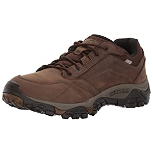Merrell Men Moab Adventure Lace Waterproof Hiking Shoes, Brown (Dark Earth), 43 EU (8.5 UK)