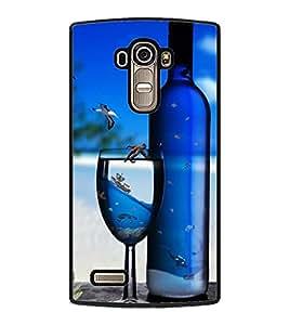 PRINTSWAG BOTTLE AND GLASS Designer Back Cover Case for LG G4
