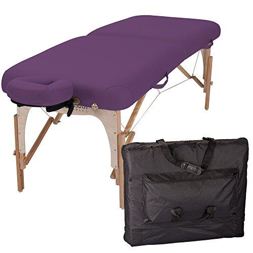 RTHLITE E2 - Tragbare, mobile Massageliege, Reiki Endplatten inkl. Kopfstütze und Tragetasche (Earthlite Massage-kopfstütze)