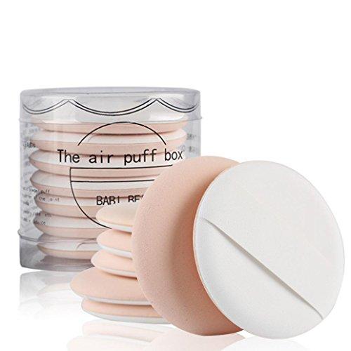 Tefamore 7pcs /set Hautfarbe Schminkschwamm Make-up Puff Schwämmchen Puderquaste Pads Grundierungspuff