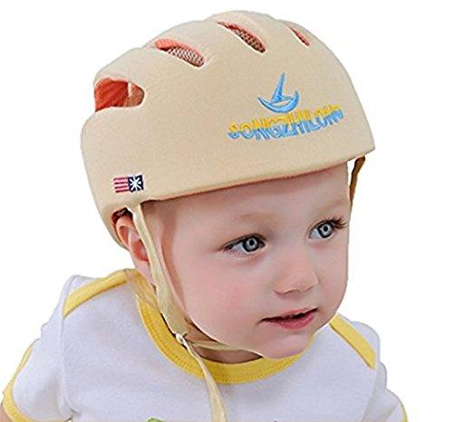 Hi8Store Sturzhelm für Kleinkinder, verstellbarer Helm, für Laufgeschirre Gr. Einheitsgröße, beige