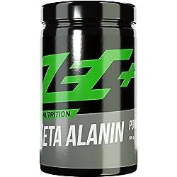 ZEC+ BETA ALANIN Pulver Drink | reines Beta Alanin Pulver für größere Carnosin-Speicher | mehr Kraft | mehr Ausdauer | mehr Wiederholungen | 500g