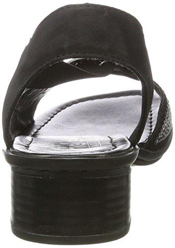 Rieker 62678, Sandales Compensées Femme Noir (schwarz / 00)