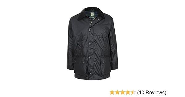 Portmann Mens Padded Wax Cotton Jacket Coat /& Hood Sizes XS to 6XL