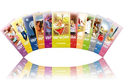 Verwöhngutscheine von VULAVA + Gratis Online-Handbuch mit 100 Verwöhnideen – die einzigartigen Liebesgutscheine mit 12 romantischen Erlebnissen sind das perfekte Geschenk für