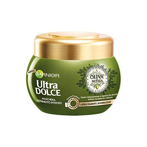 Garnier Ultra Dolce Oliva Mitica Maschera Intensa Nutriente per Capelli Inariditi Sensibilizzati, 300 ml