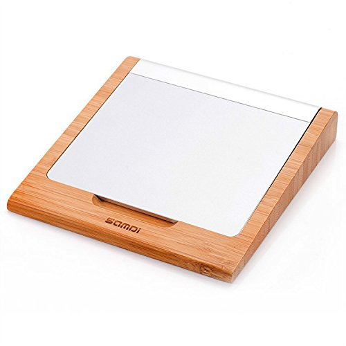 FIRST2SAVVV ZZ-SXB-13 Luxury Bamboo Wooden Stare in Piedi Titolare Bacino Stand Creative Holder Dock Case for Apple Magic Trackpad Pad Bluetooth Touchpad