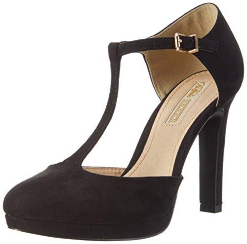 Buffalo Shoes Damen H748A-3 S0003A Imi Suede Pumps, Schwarz (Black 01), 41 EU