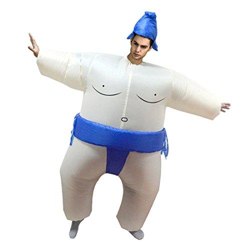 Triseaman unisexo adulto de Halloween hinchable ropa divertido fantasía hinchable cosplay Sumo Azul