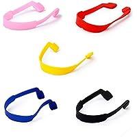 LEORX Anteojos gafas de sol gafas silicona elástico antideslizante cinta correa 5 colores
