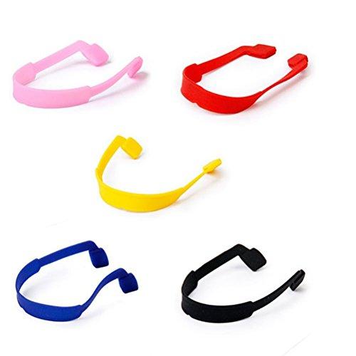 LEORX Brillen Sonnenbrillen Gläser Anti-Rutsch elastische Silikon Kopfband Gurt 5 Farben