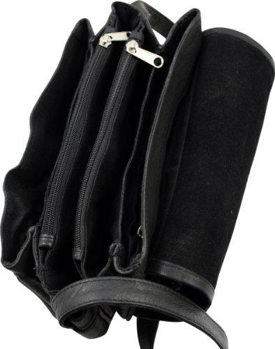 WESTERN-SPEICHER Handtasche Leder Strass Swarovski-Elements Schwarz, DL,105