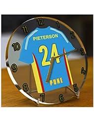 IPL India Cricket–Camiseta de críquet Premier League de Indian Desktop relojes–Cualquier Nombre, Cualquier Número, Cualquier Team–Personalización Gratuita., hombre mujer Infantil, Rising Pune Supergiants