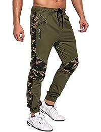 MODCHOK Homme Pantalon Sarouel Chino Jogging Camouflage Combat Pants Sport  Slim d0b5f9d877f