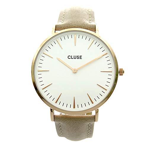 Cluse Damen Analog Quarz Uhr mit Leder Armband CL18031