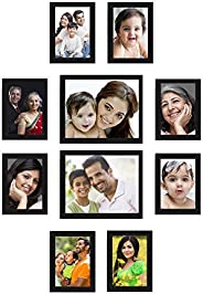 Amazon Brand - Solimo Collage Photo Frames, Set of 10,Wall Hanging (8 pcs - 5x7 inch, 2 pcs - 8x10 inch), Blac
