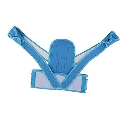 Sharplace Ceinture Corrective Correcteur Posture Lombaire au Cou à l'épaule pour les Enfants - M, Bleu