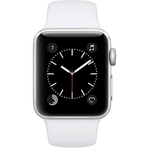 Apple Watch Series 2 42MM SmartWatch Silver with White Sport Band (Ricondizionato)
