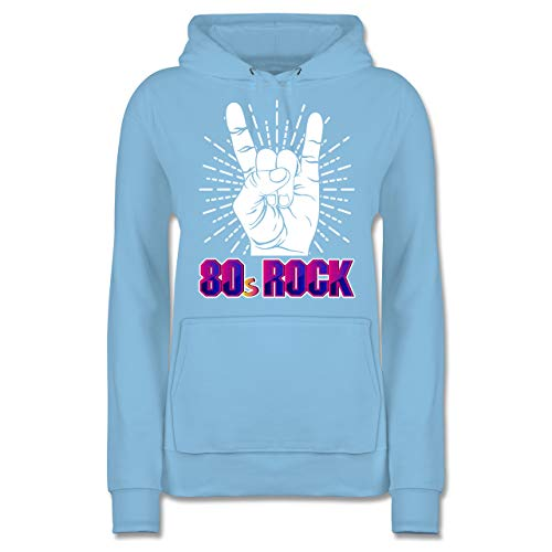 Nerds & Geeks - 80's Rock - M - Hellblau - JH001F - Damen Hoodie