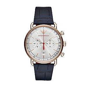 Emporio Armani Reloj Cronógrafo para Hombre de Cuarzo con Correa en Cuero AR11123