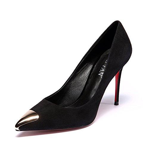 Commuer pointus talons noirs à l'automne/ professional fine chaussures asakuchi A