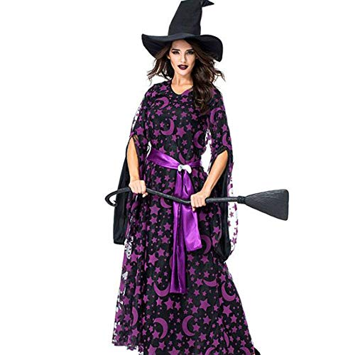 Gute Kostüm Hexe Womens - QWE Halloween Kostüm Lila Magic Witch Party Party Hexe Spiel Dress Lady Performance Kostüm