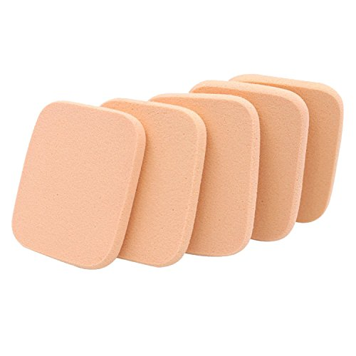 Vococal® 30 Pcs Maquillage Éponge Houppette Cosmétique Sponge Facial Powder Puff Jaune