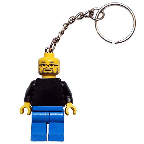 Steve Jobs Schlüsselanhänger | exklusive LEGO Figur vom Apple Gründer und Computer-Visionär | FamousBrick | Gadget für Mac & iPhone Liebhaber