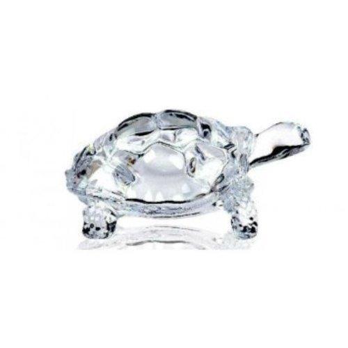 Lightahead® Chinesische Feng Shui Schildkröte Schildkröte Glas Statue Lucky Geschenk der Gesundheit
