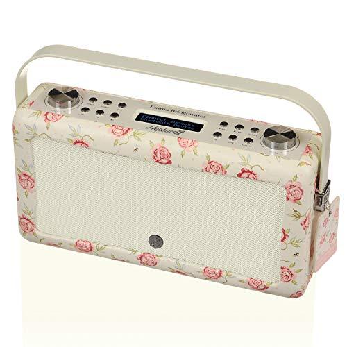 VQ Hepburn Mk II DAB/DAB+ Digital- und FM-Radio mit Bluetooth und Weckfunktion - Emma Bridgewater Rose & Biene