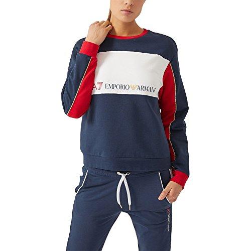 EA7 EMPORIO ARMAN Damen Sweatshirt, Mehrfarbig Large