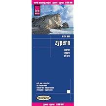 Zypern 1: 150 000: Kartenbild 2seitig, klassifiziertes Straßennetz, Ortsindex, GPS-tauglich, wasserfest imprägniert