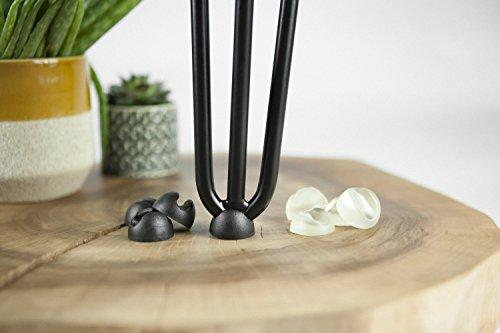 4x Bodenschutz für Hairpin Legs mit 12mm Dicke, Transparent oder Schwarz