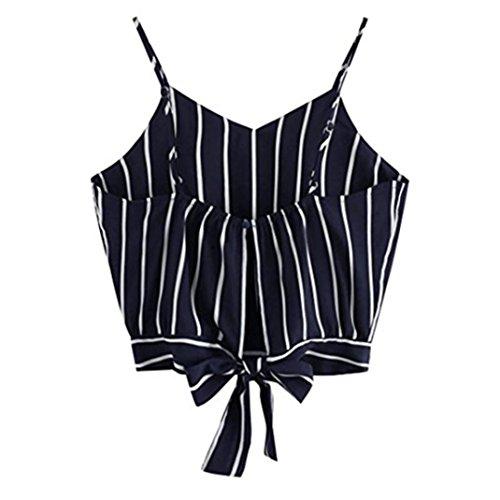 KEERADS T-Shirt Damen Sommer Bauchfrei Trägerlos V-Ausschnitt Stickerei Crop Tops Oberteile Bluse (M, Blau 2) (Bluse Frauen-damen-top)