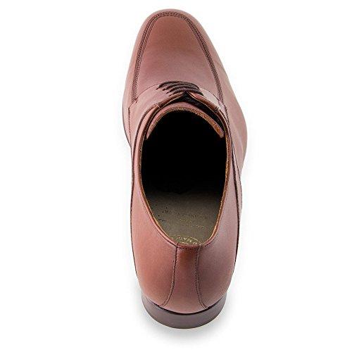Masaltos Scarpe con Rialzo da Uomo Che Aumentano l'Altezza Fino a 7 cm. Fabbricate in Pelle. Modello Sheffield Marrone