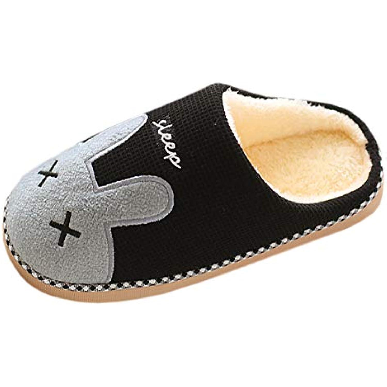 Huatime Coton Intérieure Pantoufles Automne Hiver - Femme/Homme Peluche Chaussons Doublure Intérieure Coton Accueil Slippers - B07JNX3MFQ - 6b2b3d