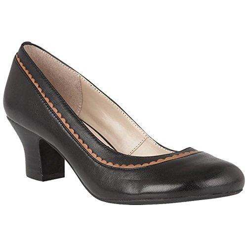 Lotus Hallmark Sandalias de Vestir Para Mujer Negro Negro, Color Negro, Talla 42