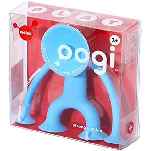 Moluk Oogi Junior Blu, personaggio estensibile con ventose in silicone, irresistibile compagno di (Aerei Ventose)