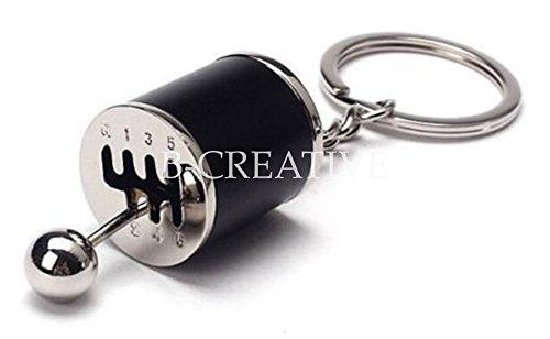 b-creative zappeln Schaltknauf Hebel Gear Shift Schlüsselanhänger, Metall Getriebe Schlüsselanhänger Schlüssel Kette-perfekte Weihnachtsgeschenk-6Speed Gear Box-UK-Schnelle Lieferung