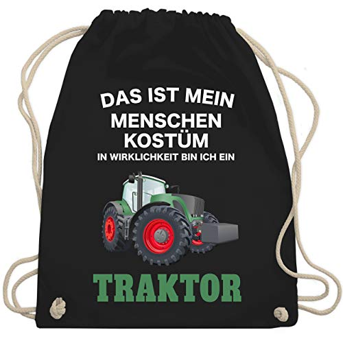 Karneval & Fasching - Das ist mein Menschen Kostüm in echt bin ich ein Traktor - Unisize - Schwarz - WM110 - Turnbeutel & Gym - Traktor Kostüm