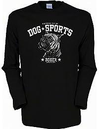 Hunde mit Herz Boxer Herren Langarmshirt in schwarz