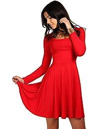 9c91ebdabd57 FUTURO FASHION® Elegance Women s Plain Mini Dress Long Sleeve Jersey Tunic  Sizes 8-18