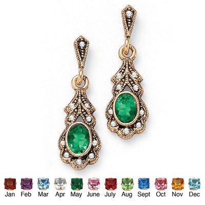 palm-beach-jewelry-taglio-pietra-anticata-sim-may-sim-orecchini-colore-verde-smeraldo