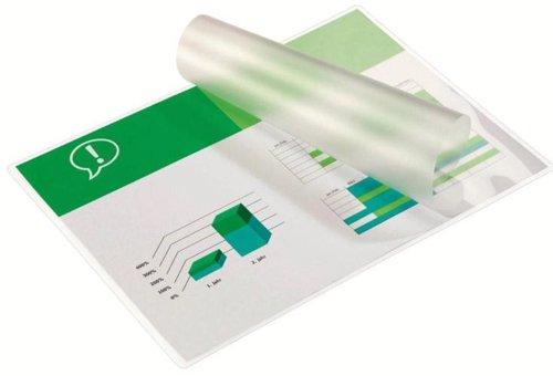 Gbc buste pouch lucide per plastificazione a4, 2 x 75 micron, confezione da 25, 3740489