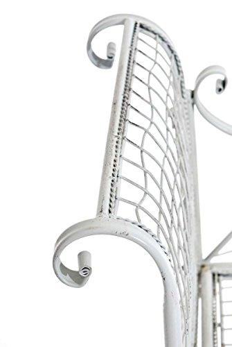 CLP 2er Garten-Bank ANTIKA, Landhaus-Stil, ca. 125 x 50 cm, Metall (Eisen lackiert) Antik Weiß - 4